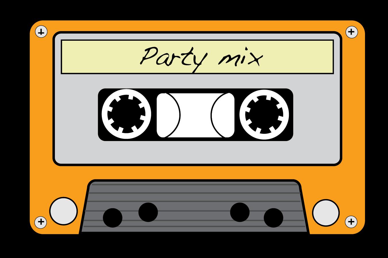 Cube neon cassette tape