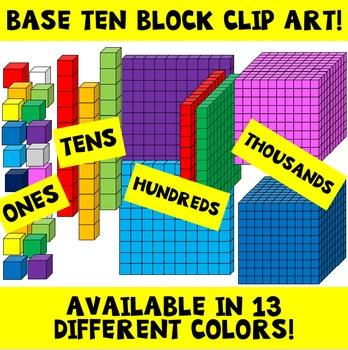Cube clipart place value. Clip art teachers pay