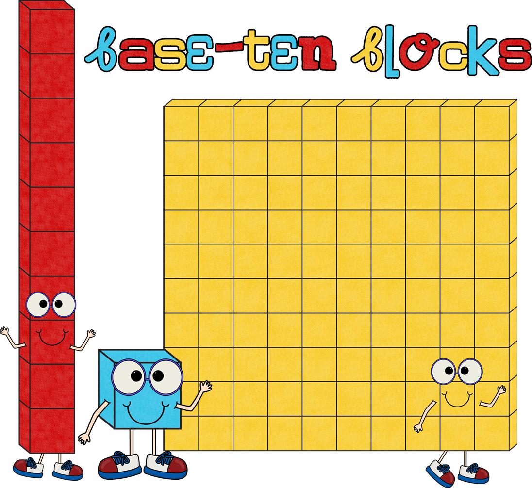 collection of base. Cube clipart place value