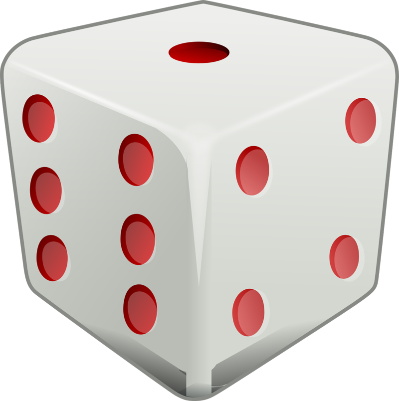Square clipart dice. Classifying solid figures ck