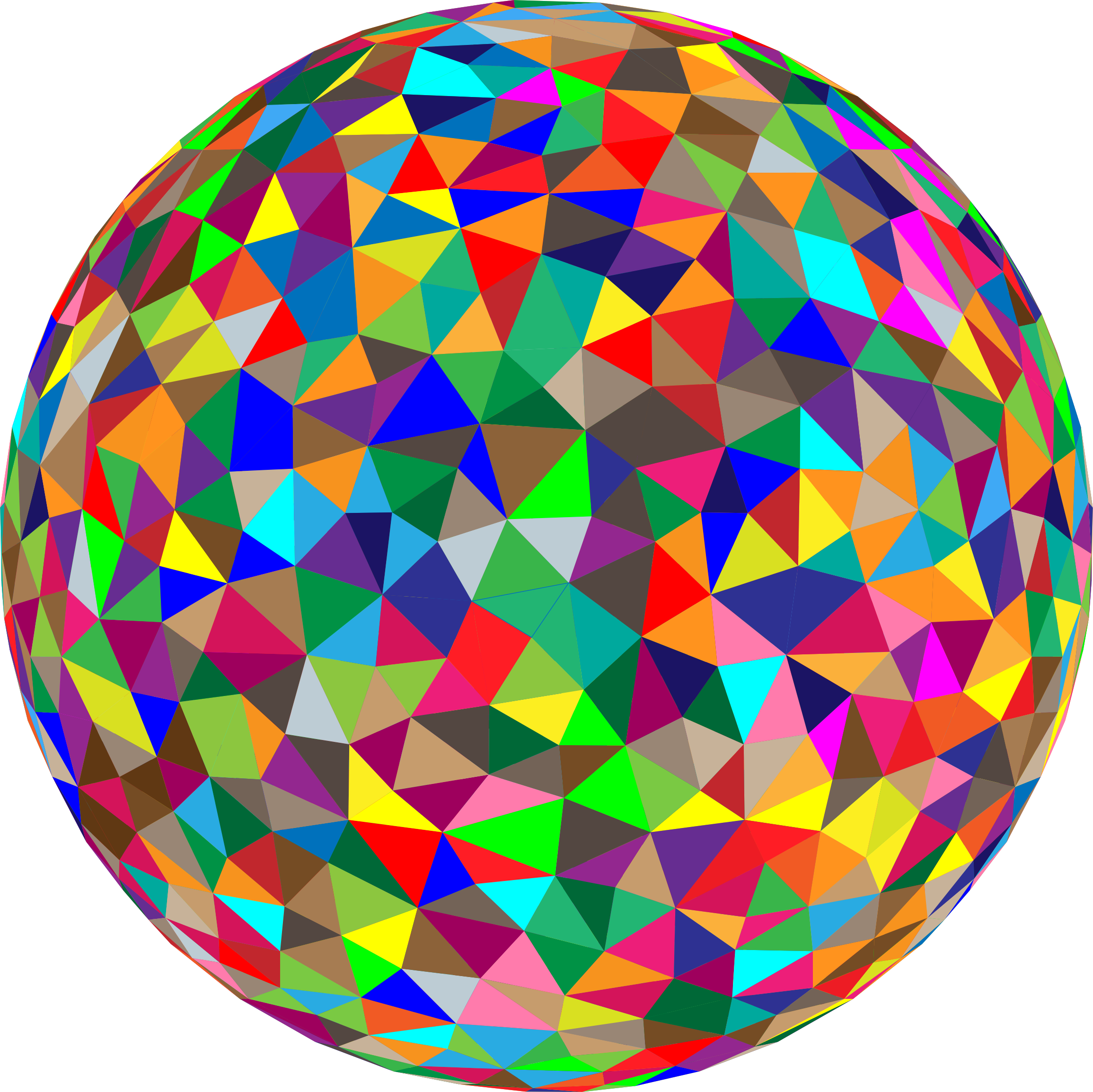 Prismatic low poly big. Cube clipart sphere