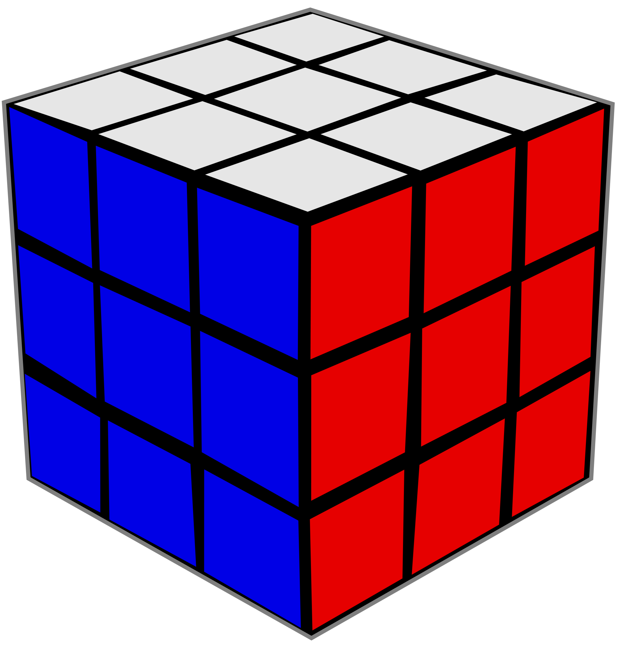 File rubiks wikimedia commons. Cube clipart svg