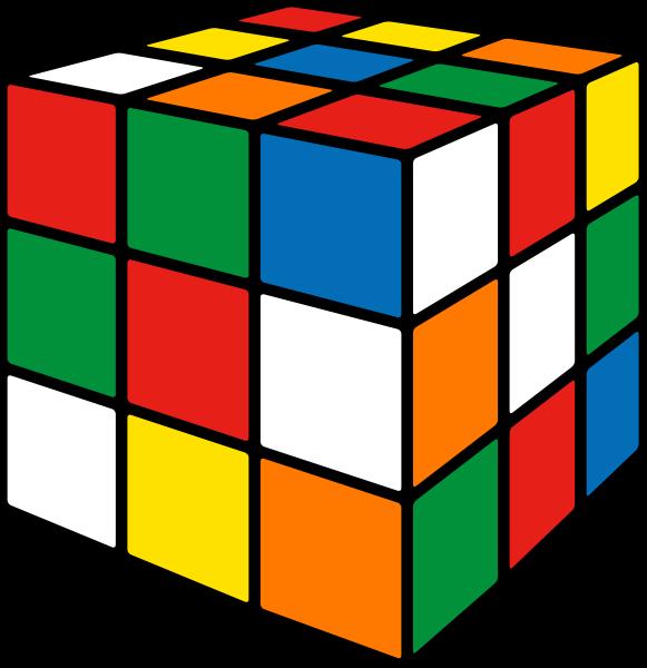 Cube clipart svg. Rubik s mix vector