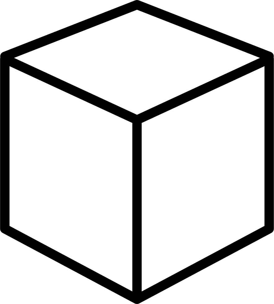 Isometric perspective png icon. Cube clipart svg