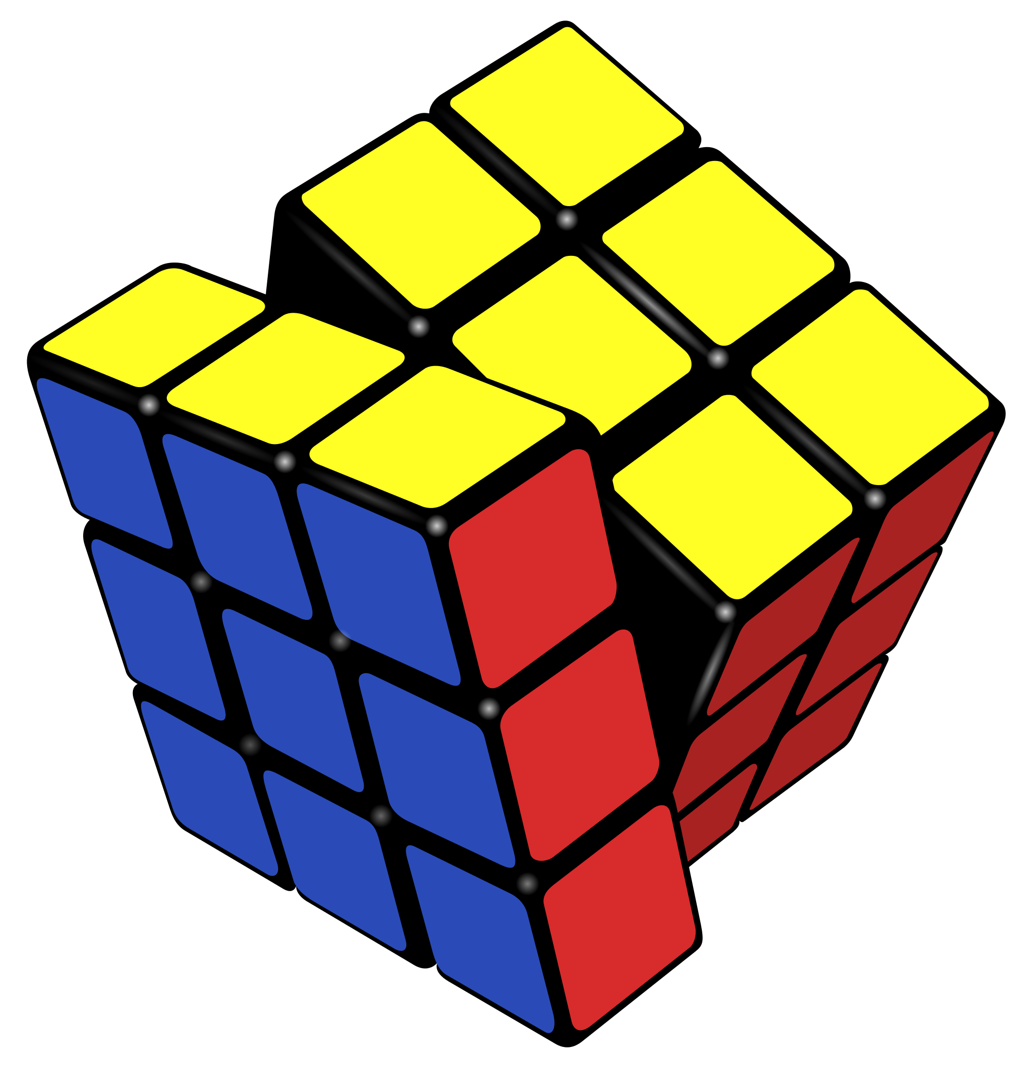 Cube clipart svg. File rubik s almost