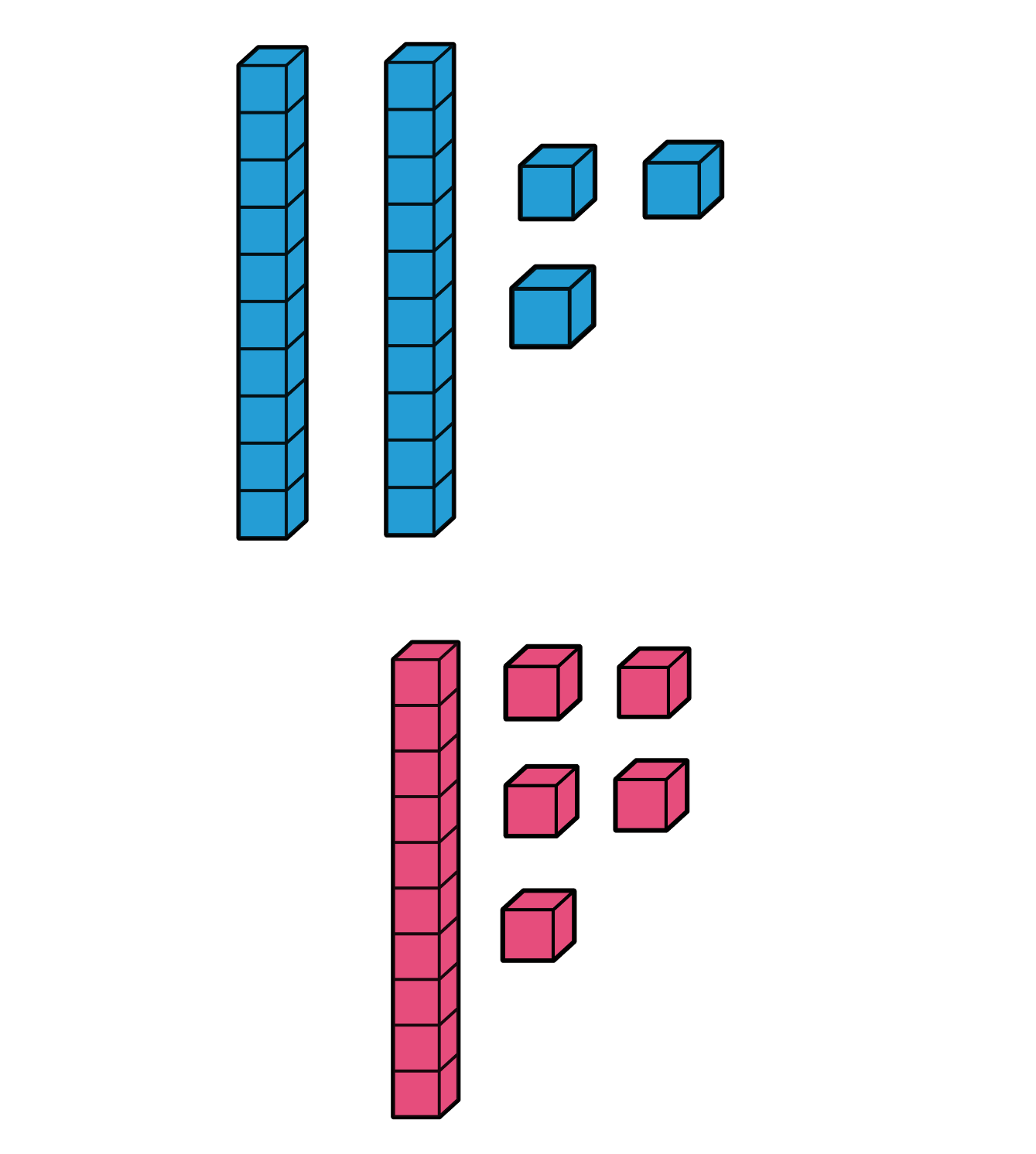 Hands on math teaching. Cube clipart unifex
