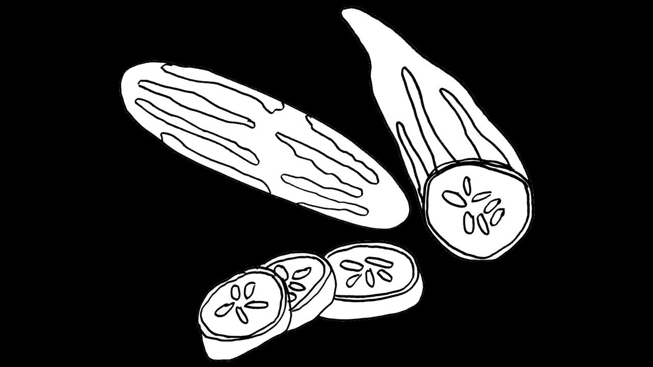 Zucchini clipart pipino. Cucumber slice png black
