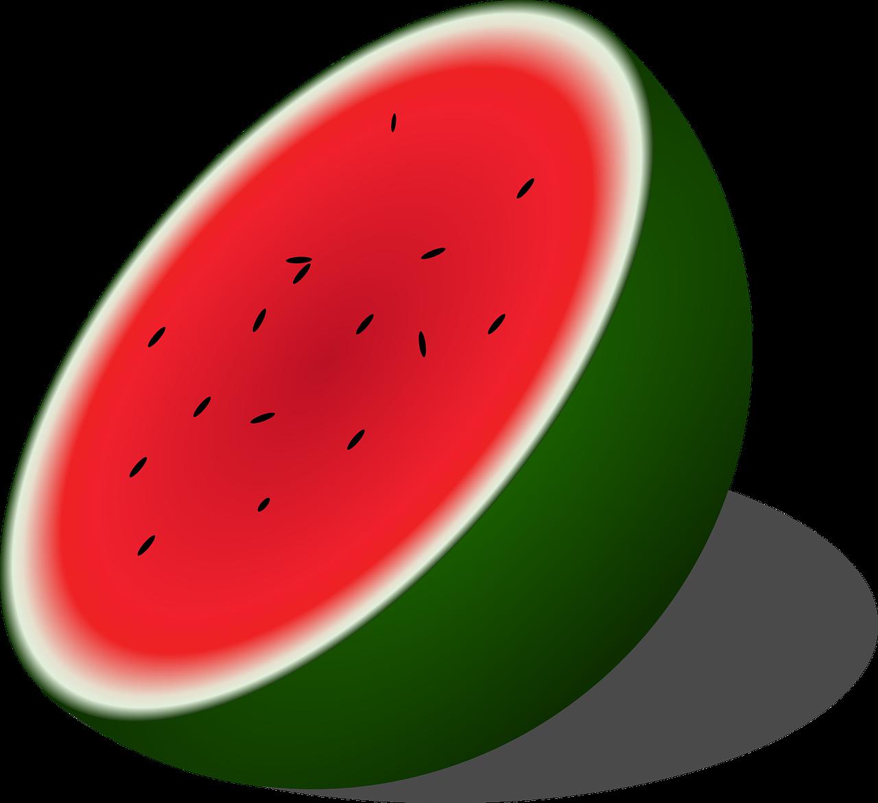 Watermelon clipart sweet fruit. Melon half seeded free