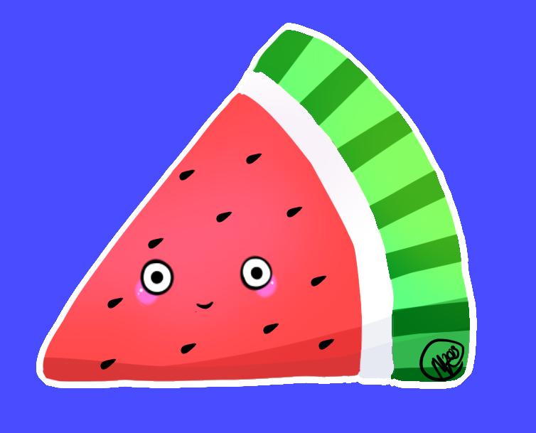 Kawaii by mewidua on. Skin clipart watermelon