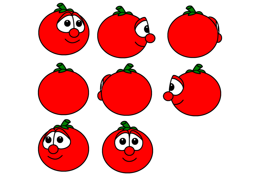 Veggie tales characters on. Tomatoes clipart bob