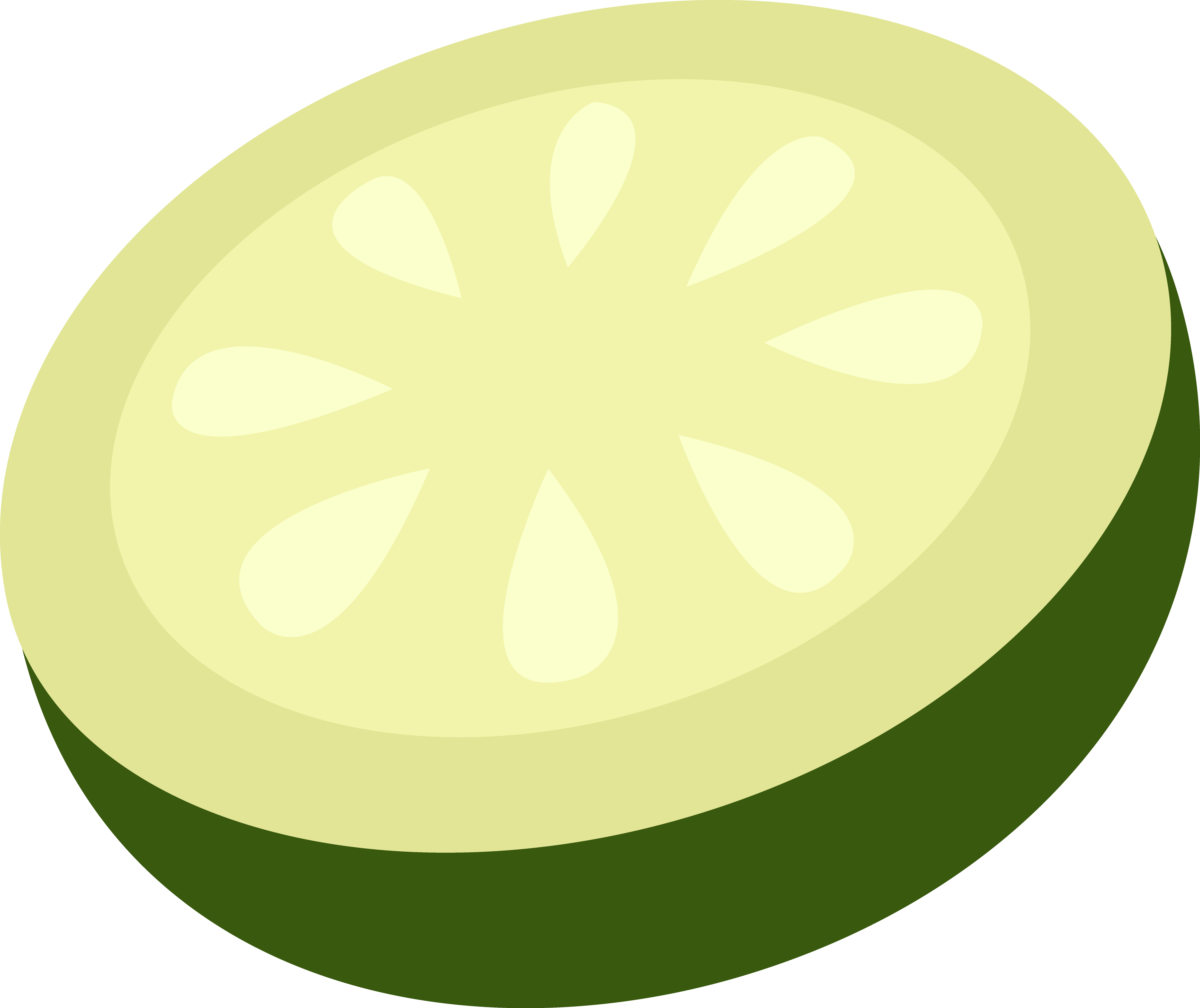Lemons clipart painted. Cucumber slice drawing at