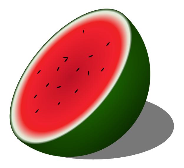 Melon food pencil and. Watermelon clipart transparent background
