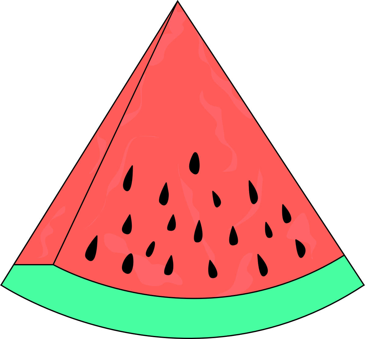 Slice sketch big image. Watermelon clipart tumbler