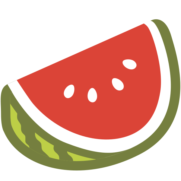 Watermelon clipart emoji. File u f svg