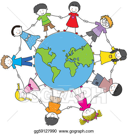 Culture clipart. Eps vector children from