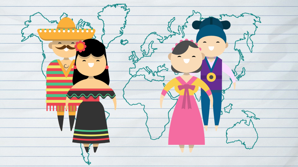 South korea in m. Culture clipart acculturation