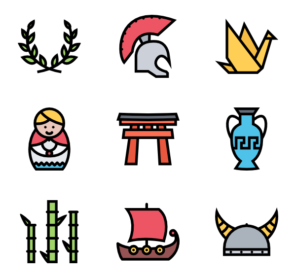icon packs vector. Culture clipart cultural heritage