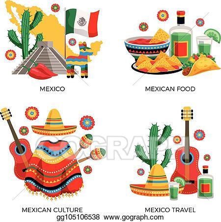 Mexico clipart poncho mexican. Vector stock culture concept