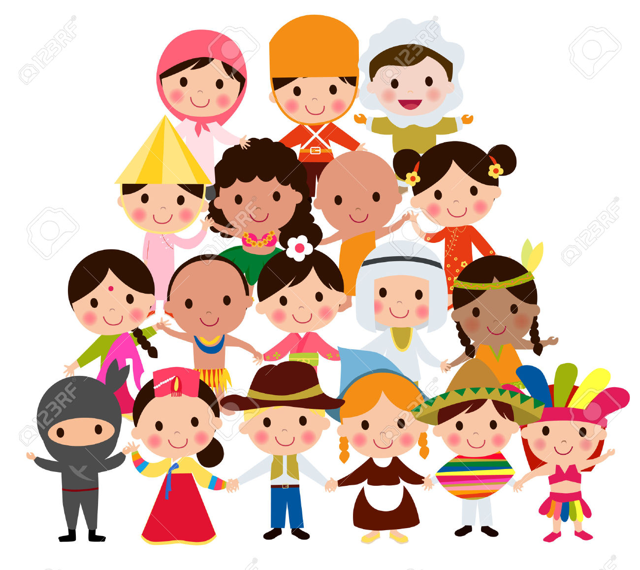 Culture clipart different ethnic group. Diversity free download best