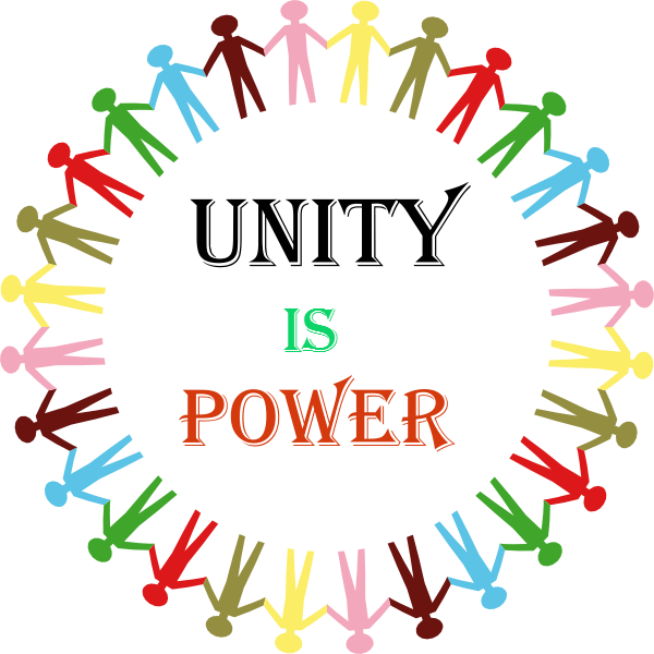 Fist clipart unity. Black is power not