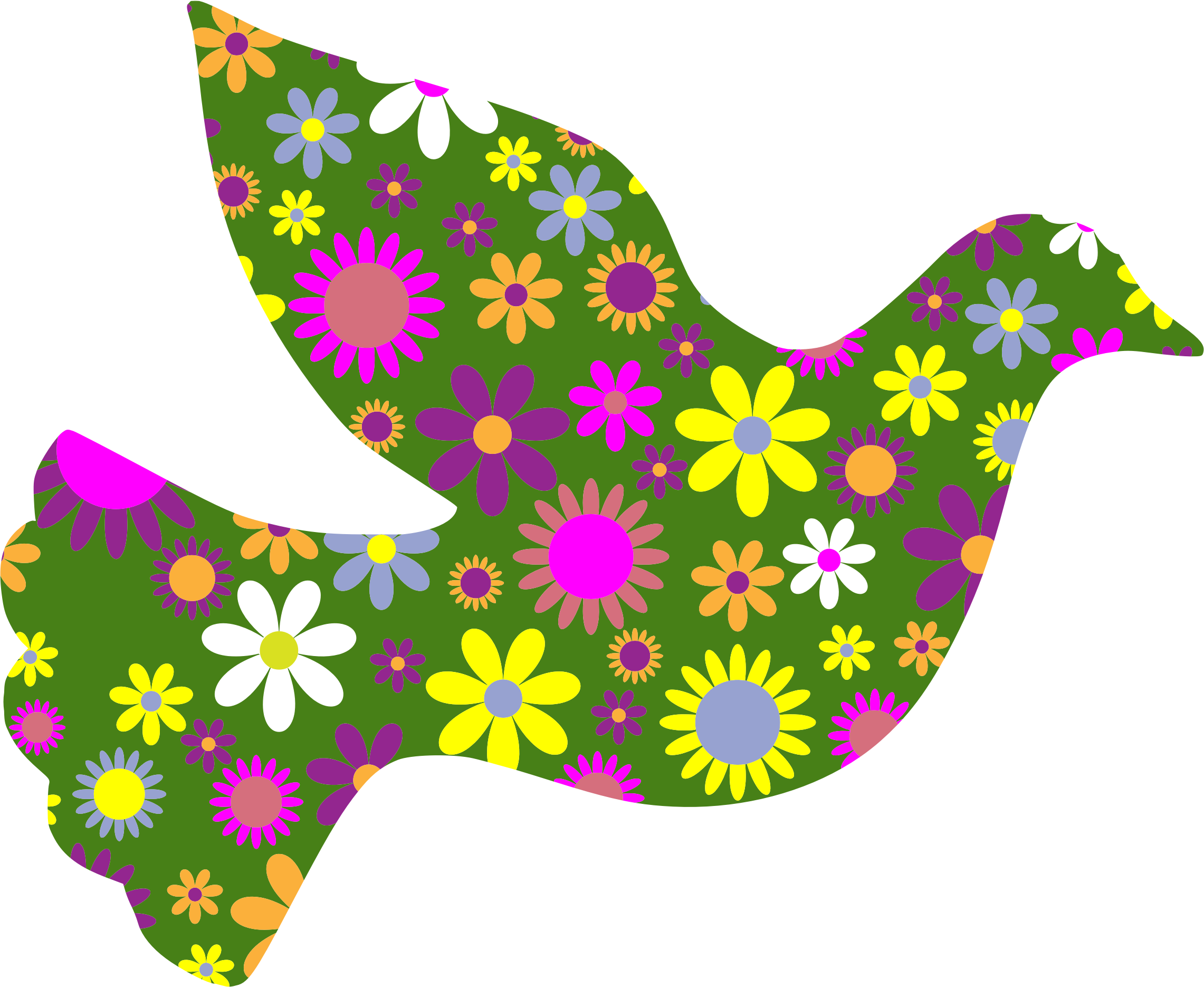 Retro floral peace dove. Trust clipart academic advisor