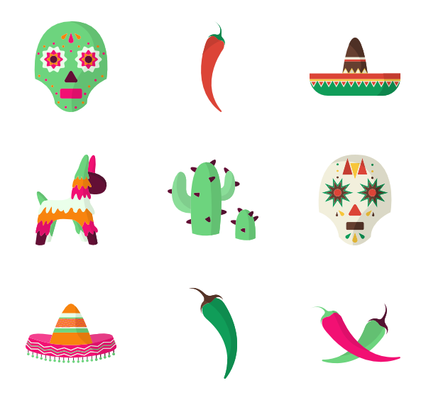 Icons free vector. Mexican clipart rug