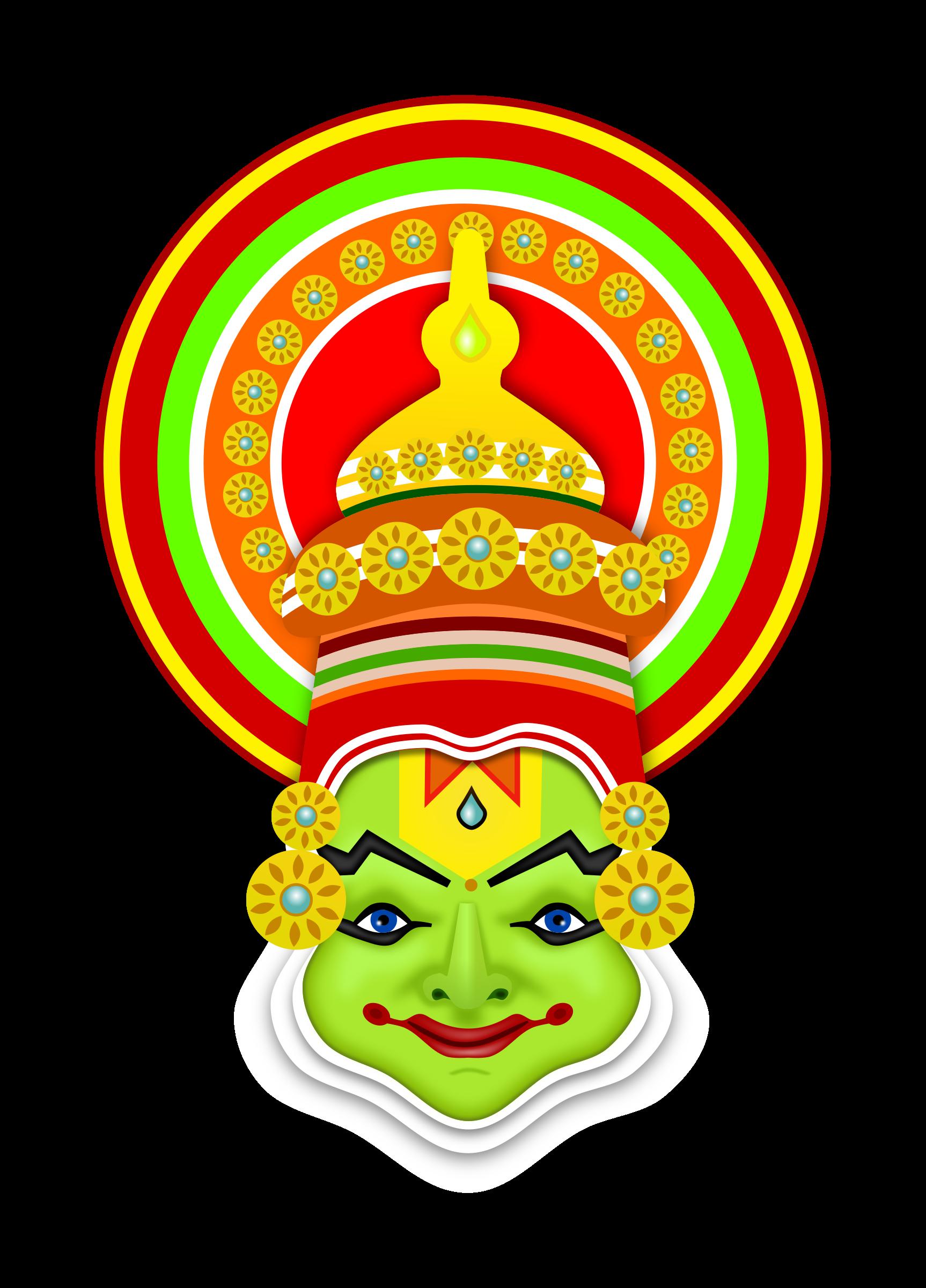 Onam big image png. Mask clipart symbol