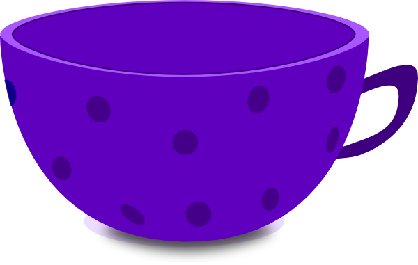 Purple tea clip art. Cup clipart