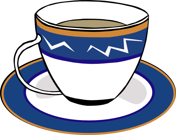 Cup clipart. A and dish clip