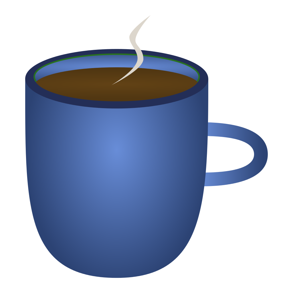 File blue of coffee. Cup clipart 6 cup