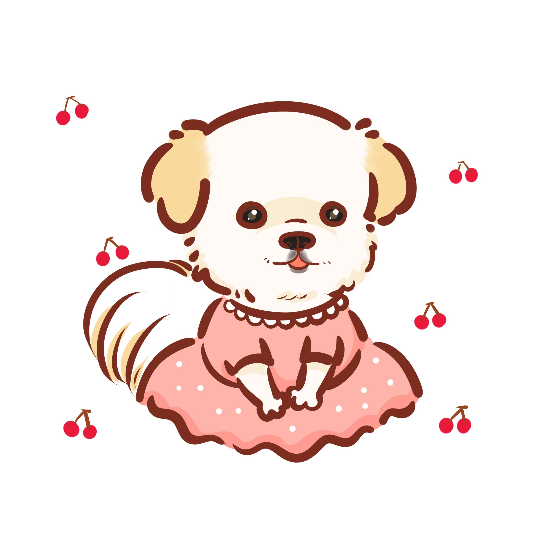 Shiba inu puppy q. Cups clipart anthropomorphic