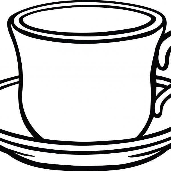 cup clipart black and white