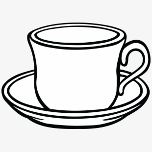 Clip art free stock. Cup clipart black and white