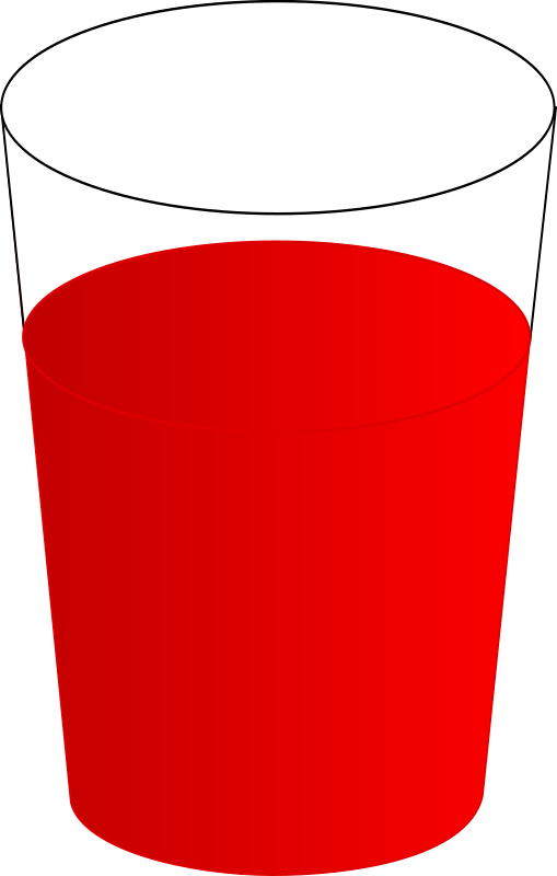 Drink clipart punch drink. Drinking glass with red