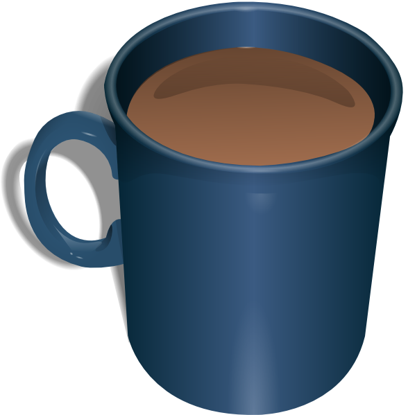 Clip art at clker. Cup clipart brown coffee mug