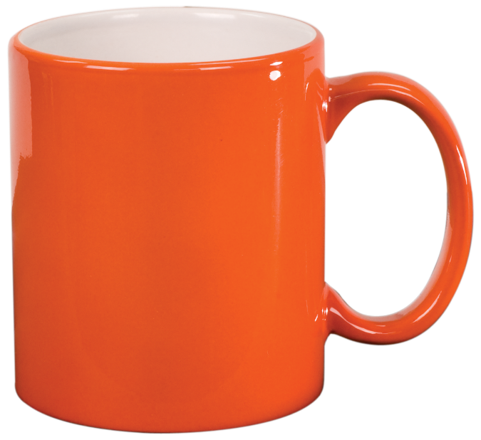 Orange pencil and in. Cup clipart brown coffee mug