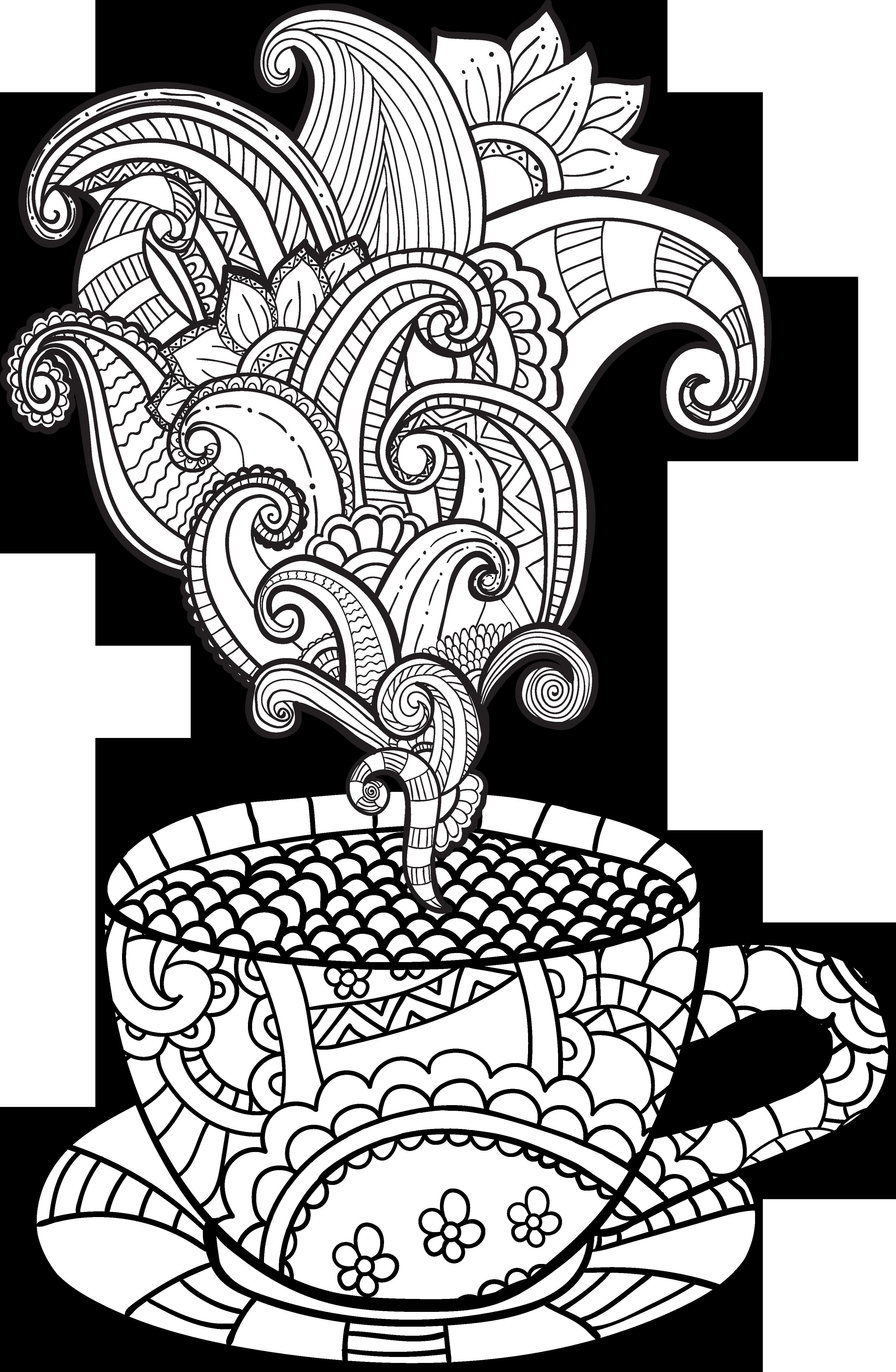 Imagem relacionada coffee pinterest. Cup clipart colouring page