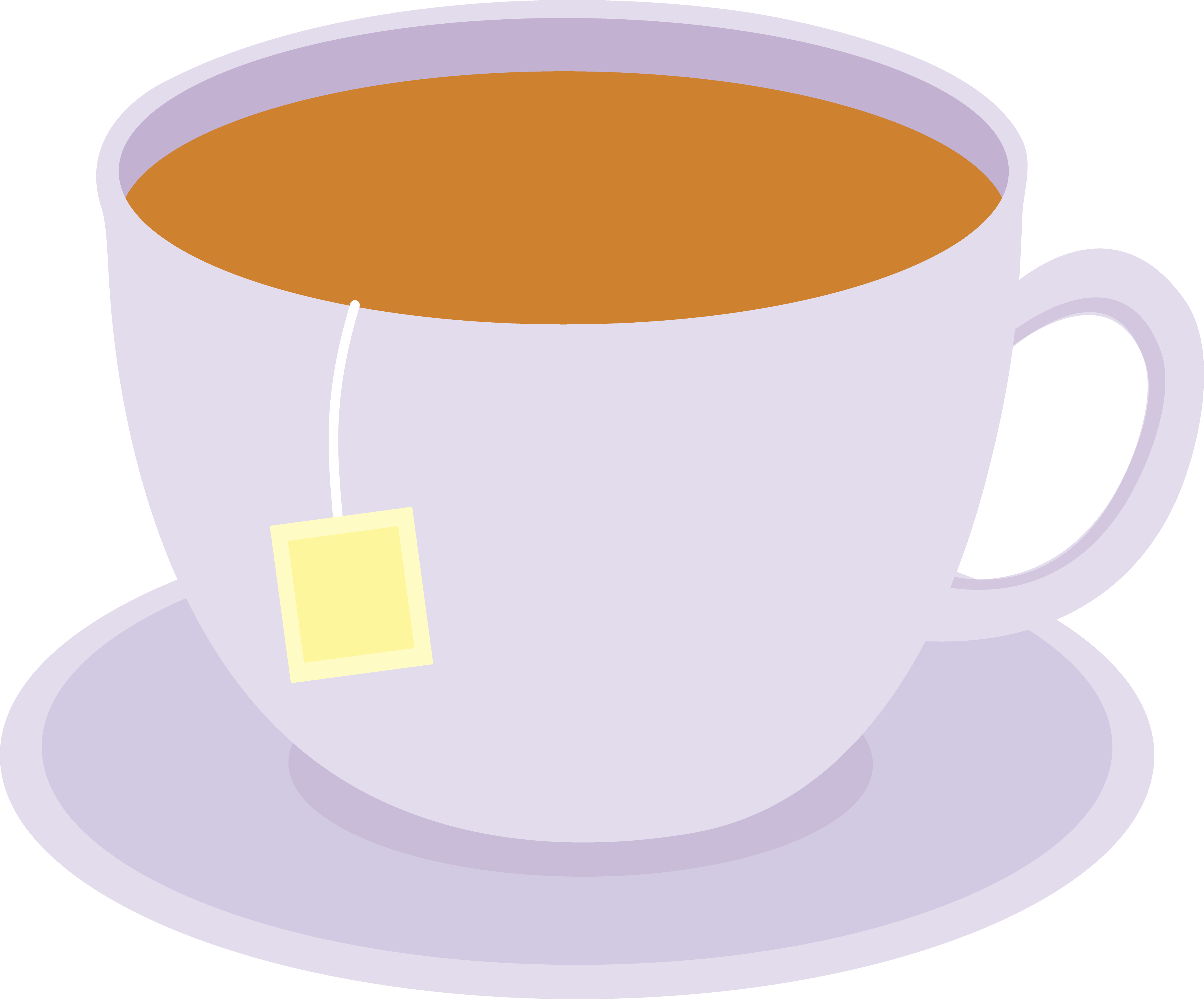 Cup of sweet tea. Cups clipart teapot