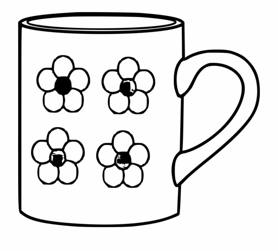 Mug clipart black and white, Mug black and white ...