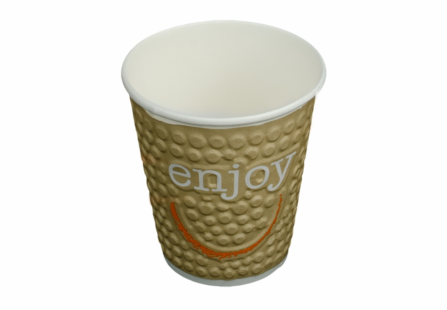 Cup clipart disposable cup. Impresso enjoy double wall