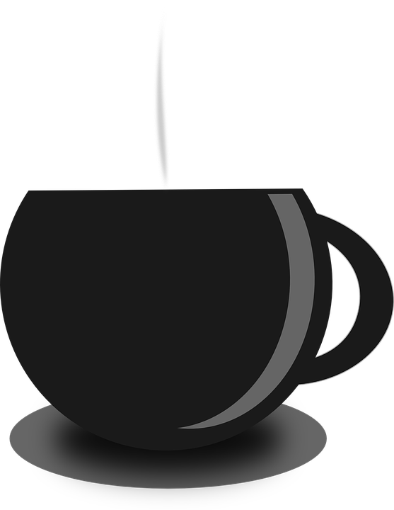 Tea clipart file. Hot png black and