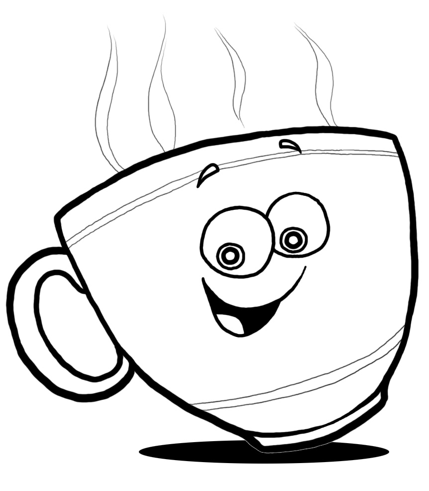 Happy cup cliparts zone. Mug clipart coffee face