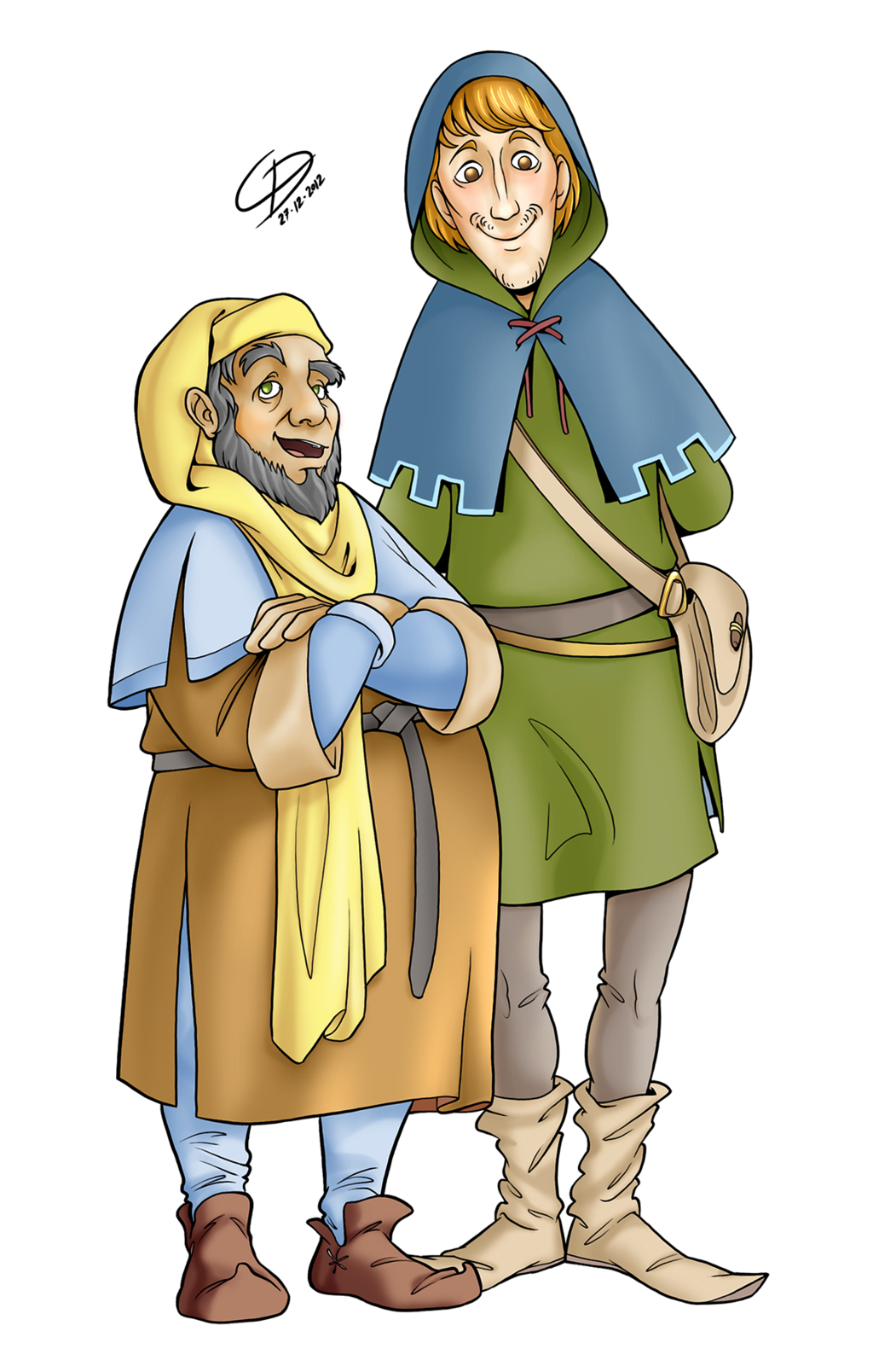 Middle ages people cartoon. Cup clipart medieval