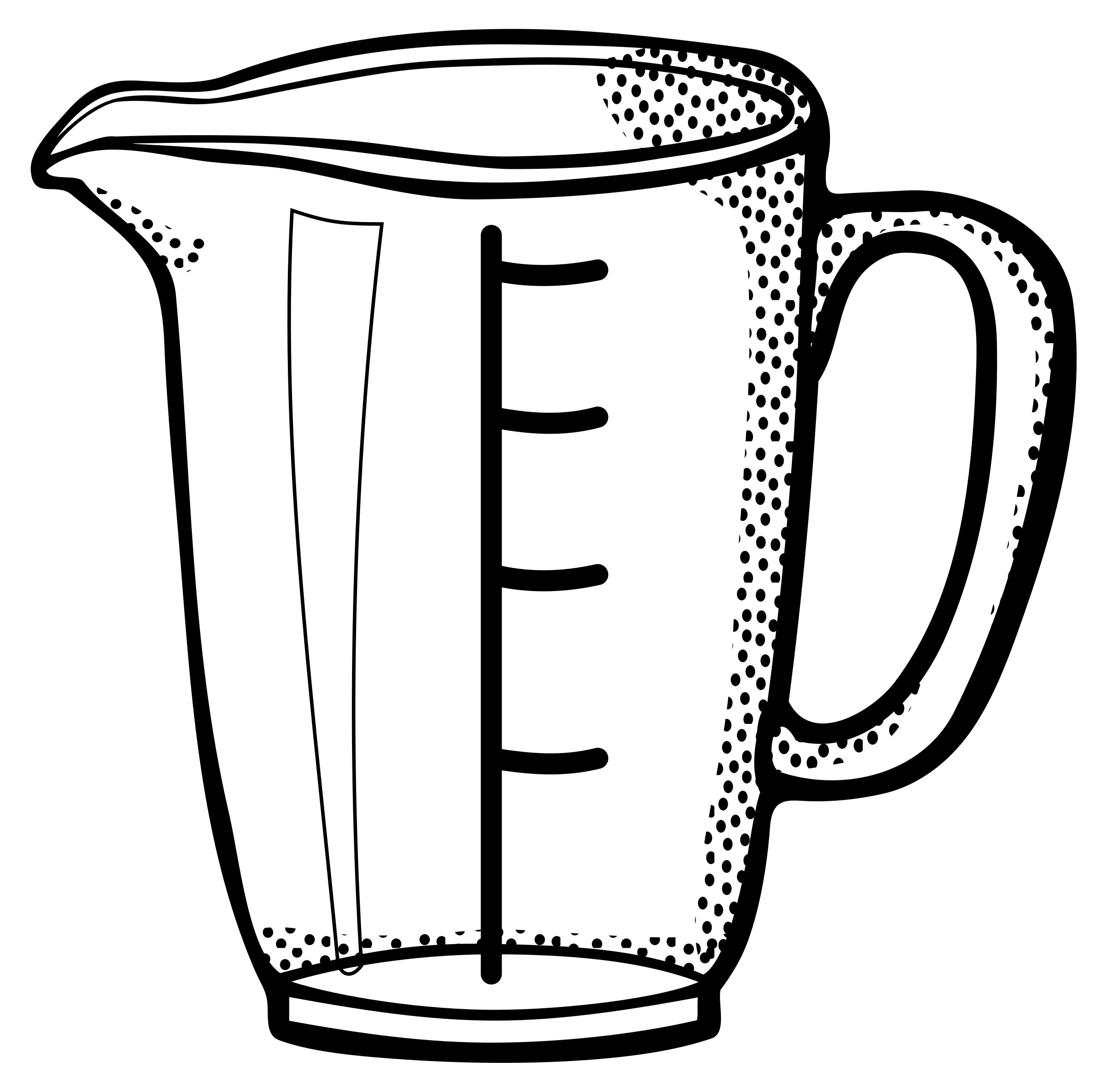 Cups clipart measuring. Cup lineart big image