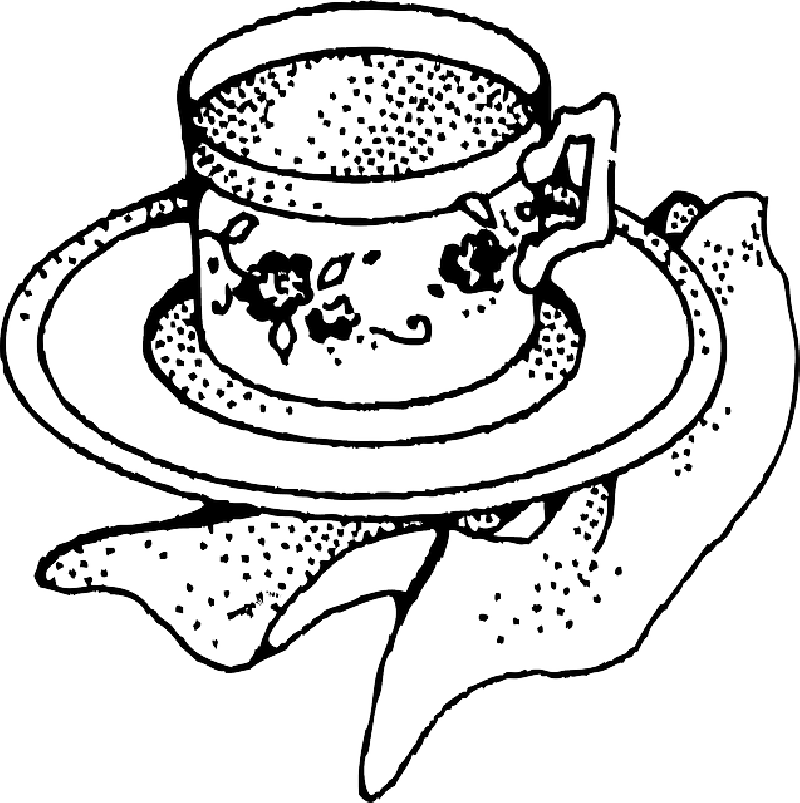 Cup clipart outline. Cups drawing at getdrawings