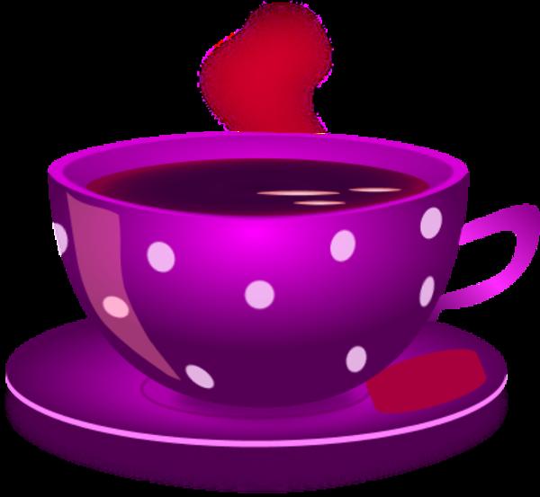 Cups clipart purple cup. Of tea cerca con