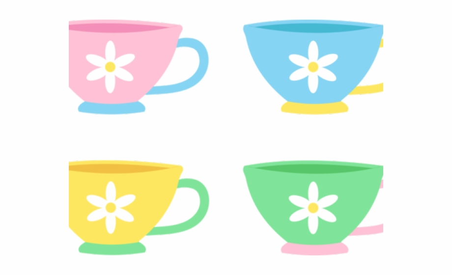 Pastel tea cup and. Cups clipart teapot
