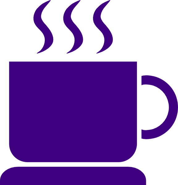 Coffee clip art at. Cup clipart purple cup