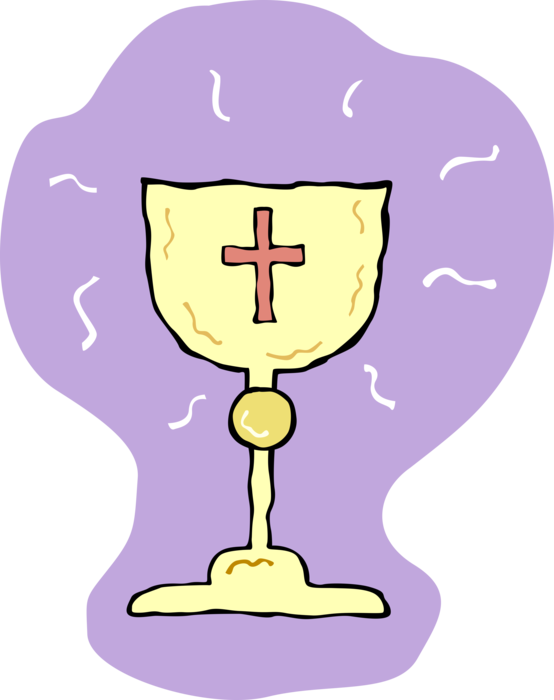 Cup clipart sacrament. Communion chalice and cross