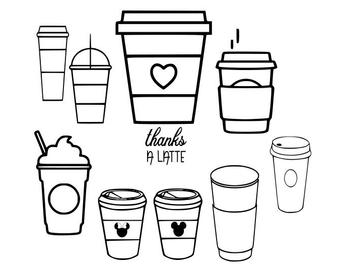 Mug clipart svg. Coffee cup etsy